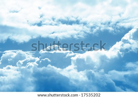 sky background - stock photo
