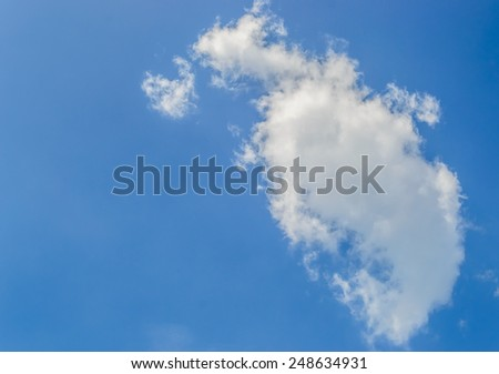 sky background and cloud