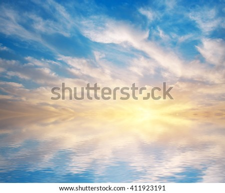 Sky background. Element of design. - stock photo