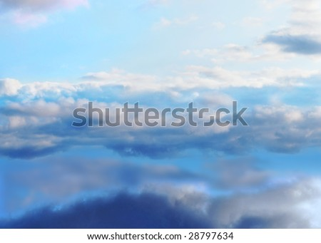 Sky background. From dark to the light. - stock photo