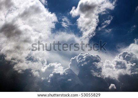 Sky background. Sky and clouds background. Clouds - stock photo