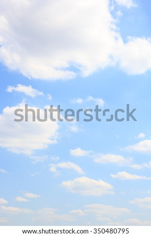 Sky background. The blue sky and white clouds. - stock photo