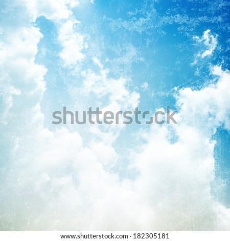 Sky background. Vintage background - stock photo