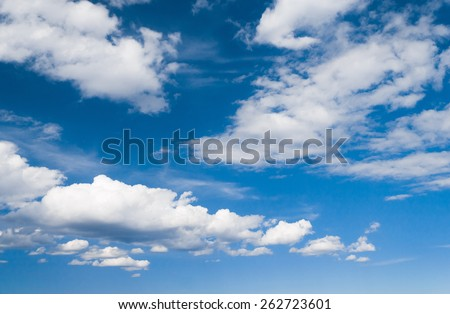Sky Beauty Cloudy Outdoor  - stock photo
