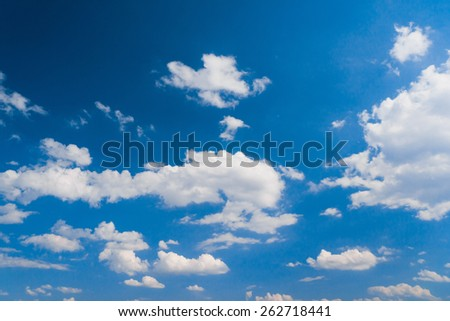 Sky Beauty Fuzzy Air  - stock photo