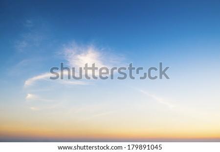 Sky before sunset - stock photo