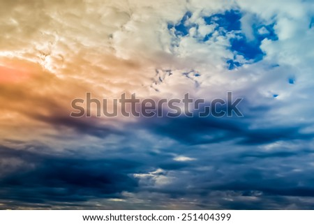 Sky before thunderstorm - stock photo