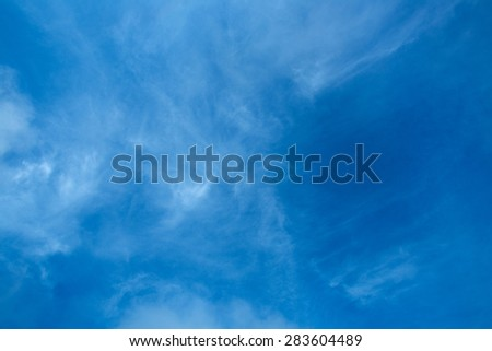 SKY BLUE TEXTURE BACKGROUND  OF NATURE - stock photo