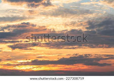 Sky bright colors landscape with dramatic clouds - stock photo