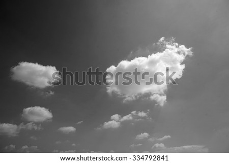 Sky cloud black and white for background