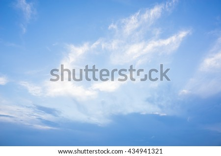Sky cloud for background.