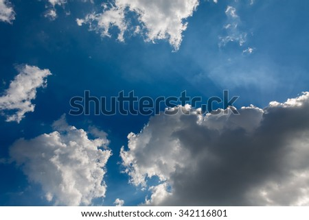 sky cloud lighting - stock photo