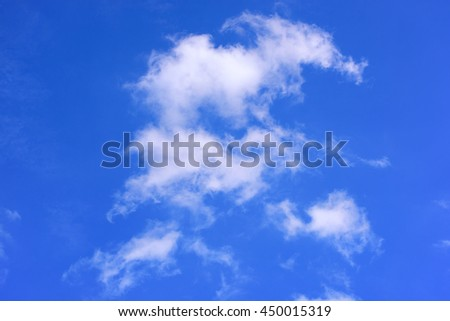 Sky cloud on background