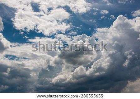 Sky clouds - stock photo