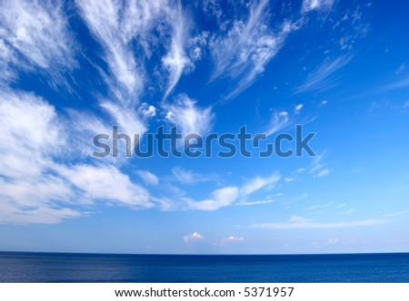 Sky, clouds and sea