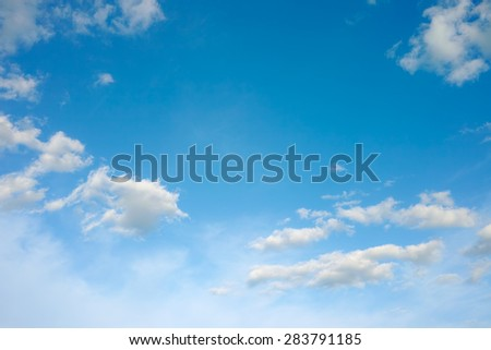 Sky clouds.Sky background with fluffy white clouds