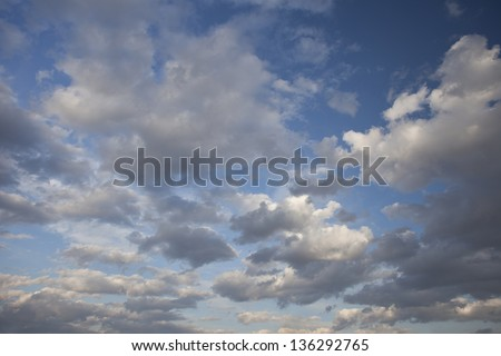 Sky. Clouds. Sun. - stock photo