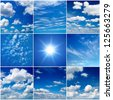 sky collection - stock photo