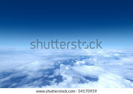 Sky collection - Shot from airplane - stock photo