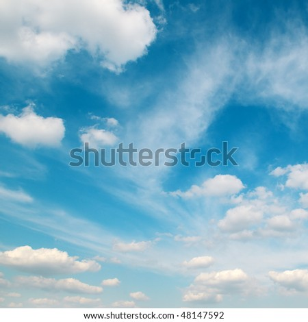 sky covered by clouds - stock photo