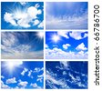 Sky daylight collection - stock photo