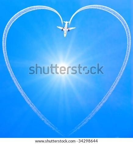 sky heart - stock photo