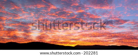 Sky in fire - stock photo