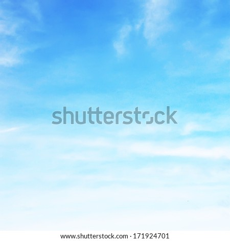 Sky in soft clouds - stock photo