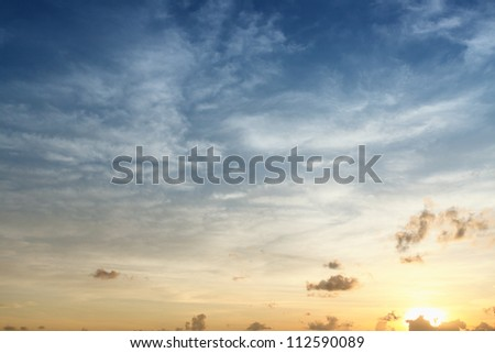 sky in sunrise - stock photo