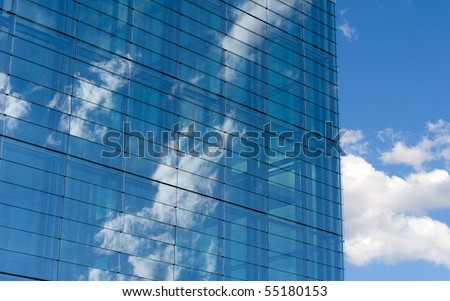 sky in the modern windows