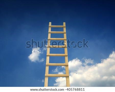 Sky ladder - stock photo
