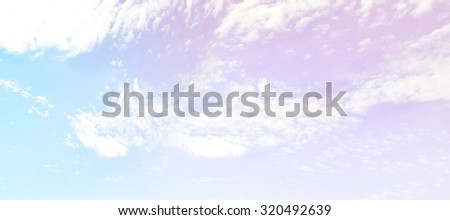 Sky Landscape. well using as Backgrounds. Bright tone. - stock photo