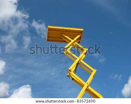 Sky lift - stock photo