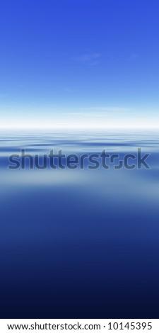 Sky & Ocean with copyspace - stock photo