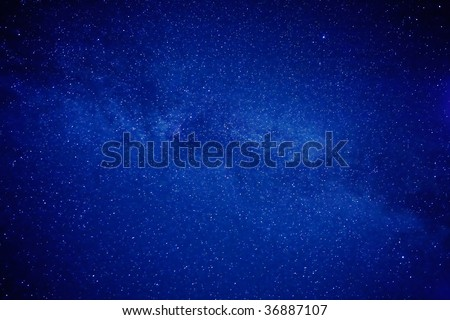 Sky of stars - space background - cluster of stars - stock photo