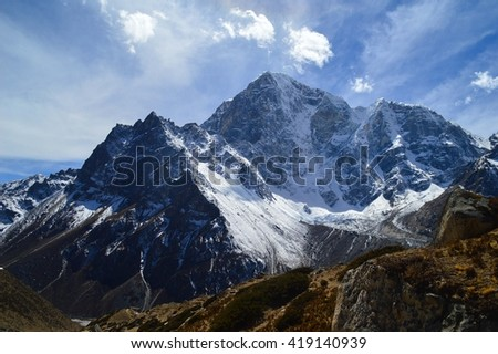 Sky over mountains - stock photo