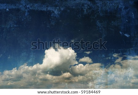 sky retro photography - stock photo