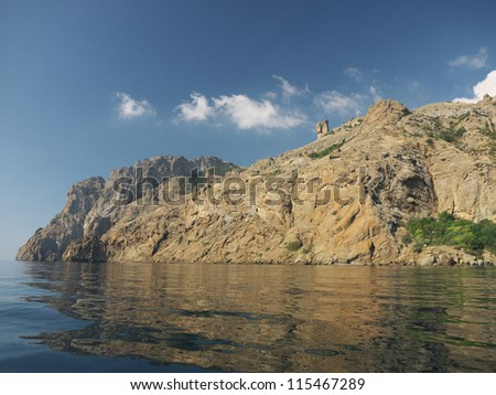 Sky, rocks and the sea in Koktebel, Crimea
