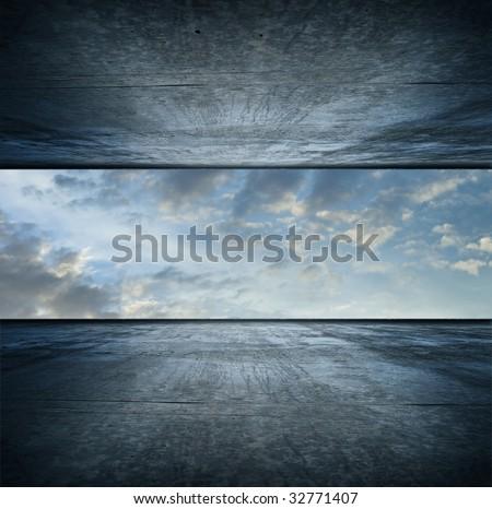 Sky room. square version - stock photo