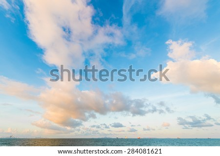 sky scape with sea - stock photo