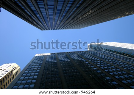 Sky Scrapers in San Francisco - stock photo