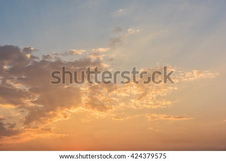 sky sunset background - stock photo