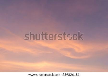 Sky, The Twilight Sky - stock photo