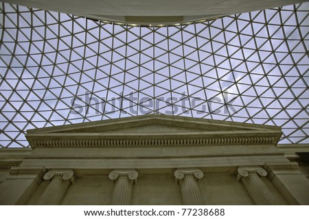 sky trough the roof - stock photo
