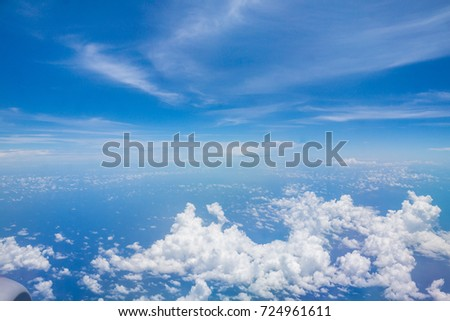 sky view from the airplane at Malaysia