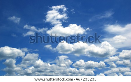 Sky white clouds Natural outdoor air Bright lighting lunch sky blue