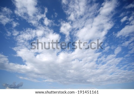 Sky with big morning cloud - stock photo