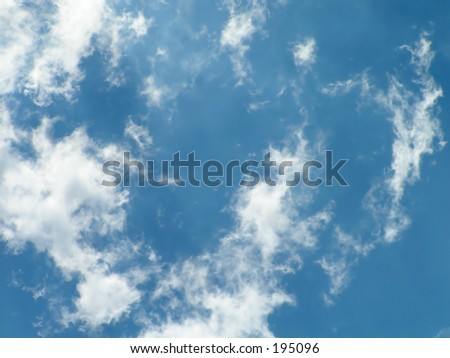 sky with cirrus clouds