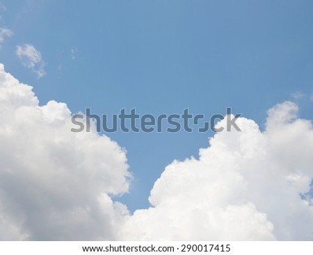 sky with clouds - stock photo