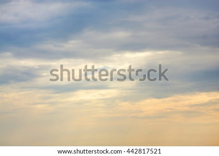 Sky with clouds, for backgrounds or textures - stock photo
